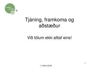 Tjáning, framkoma og aðstæður