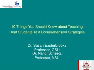 10 Things You Should Know about Teaching Deaf Students Text Comprehension Strategies