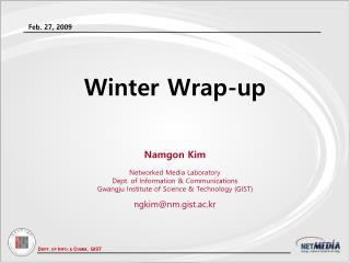 Winter Wrap-up
