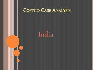 Costco Case Analysis