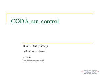 CODA run-control