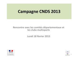 Campagne CNDS 2013