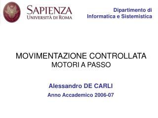 Dipartimento di Informatica e Sistemistica