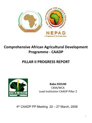 Comprehensive African Agricultural Development Programme - CAADP PILLAR II PROGRESS REPORT