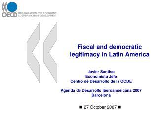 Fiscal and democratic legitimacy in Latin America