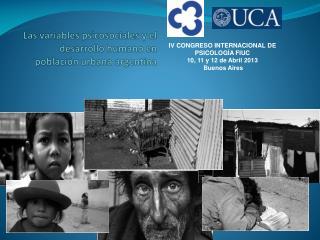 Las variables psicosociales y el desarrollo humano en población urbana argentina