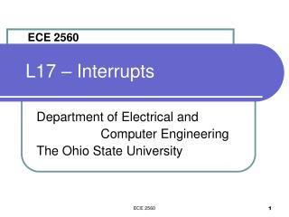 L17 – Interrupts