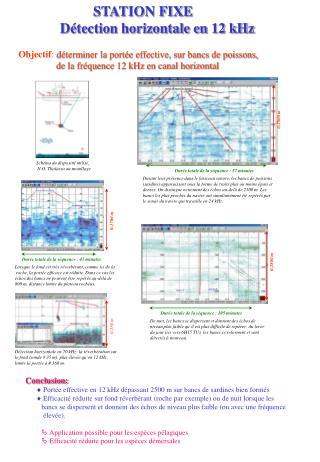 STATION FIXE  Détection horizontale en 12 kHz