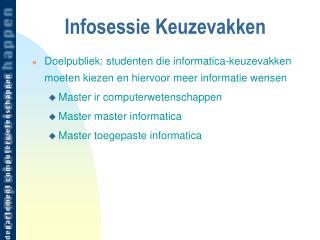 Infosessie Keuzevakken