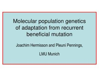Molecular population genetics  of adaptation from recurrent beneficial mutation