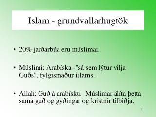 Islam - grundvallarhugtök