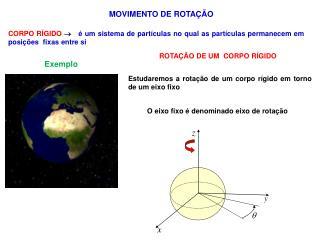 MOVIMENTO DE ROTAÇÃO
