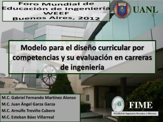 Modelo para el diseño curricular por competencias y su evaluación en carreras de ingeniería