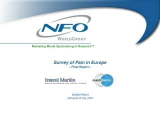 Survey of Pain in Europe – Final Report –