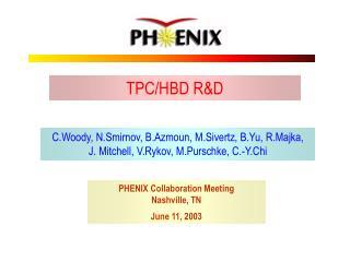 TPC/HBD R&D