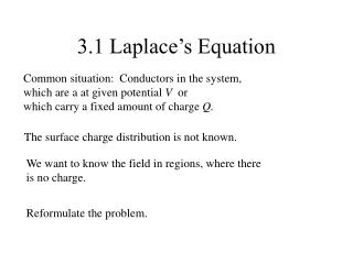 3.1 Laplace's Equation
