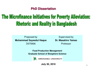 MICRO FINANCING  AS A TOOL OF  POVERTY ALLEVIATION IN ISLAMIC PERSPECTIVE