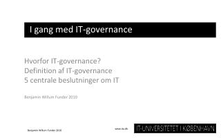 I gang med IT-governance