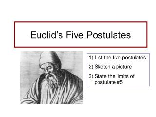 Euclid's Five Postulates