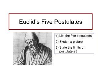 Euclid's Five Postulates