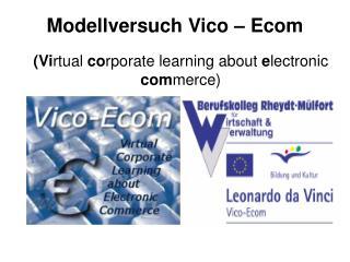 Modellversuch Vico – Ecom