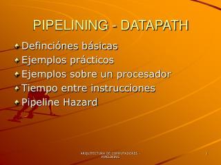 PIPELINING - DATAPATH