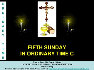 FIFTH SUNDAY  IN ORDINARY TIME C