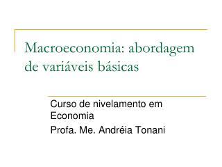 Macroeconomia: abordagem de variáveis básicas