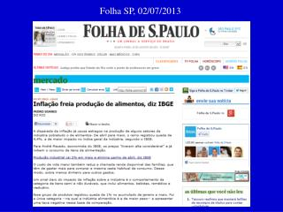 Folha SP, 02/07/2013
