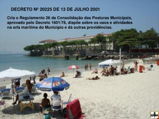 DECRETO Nº 20225 DE 13 DE JULHO 2001