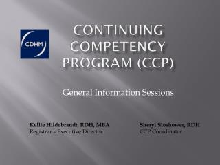 Continuing Competency Program CCP