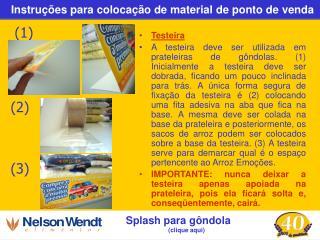 Instruções para colocação de material de ponto de venda