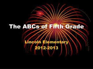 The ABCs of Fifth Grade