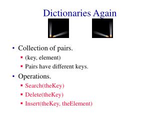 Dictionaries Again