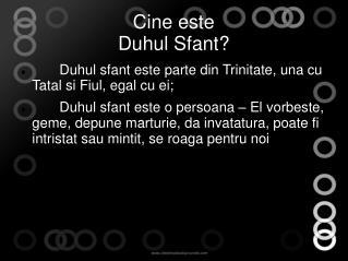 Cine este  Duhul Sfant?