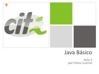 Java Básico Aula 2 por Flávio Juvenal
