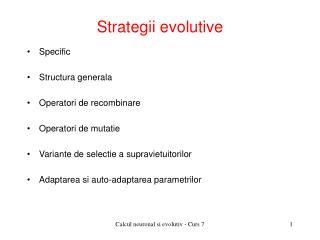Strategii evolutive