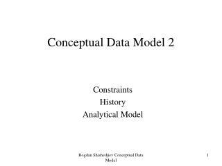 Conceptual Data Model 2