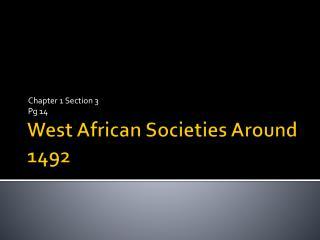 West African Societies Around 1492