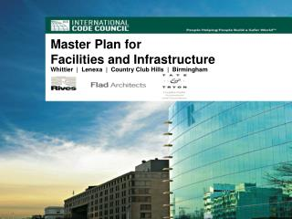 Master Plan for  Facilities and Infrastructure