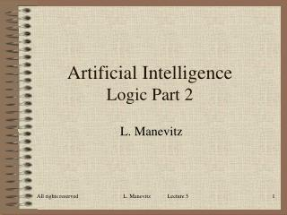 Artificial Intelligence Logic Part 2