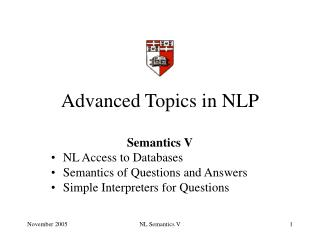 Advanced Topics in NLP