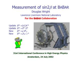 Measurement of sin2 b  at B A B AR