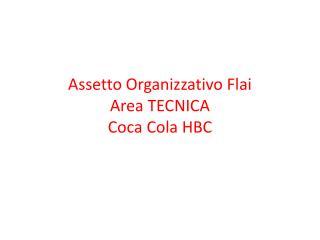 Assetto Organizzativo  Flai Area TECNICA Coca Cola HBC