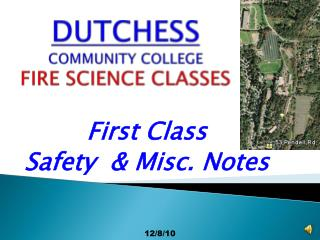DUTCHESS COMMUNITY COLLEGE FIRE SCIENCE CLASSES