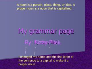 My grammar page