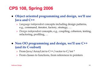 CPS 108, Spring 2006