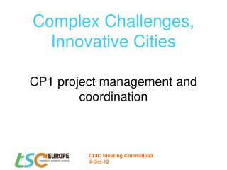 Complex Challenges,  Innovative Cities