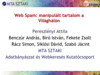 Web Spam: manipulált tartalom a Világhálón