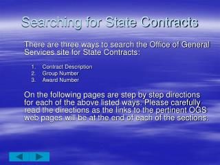 Searching for State Contracts